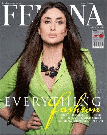 Kareena Kapoor on the cover of Femina-April 2013