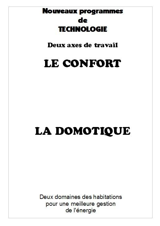 Confort et domotique 4 au programme 2013 2014 - Image confort et domotique ...