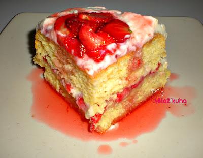 recept jagodni kolač, recepti jagode, recepti jagodna torta