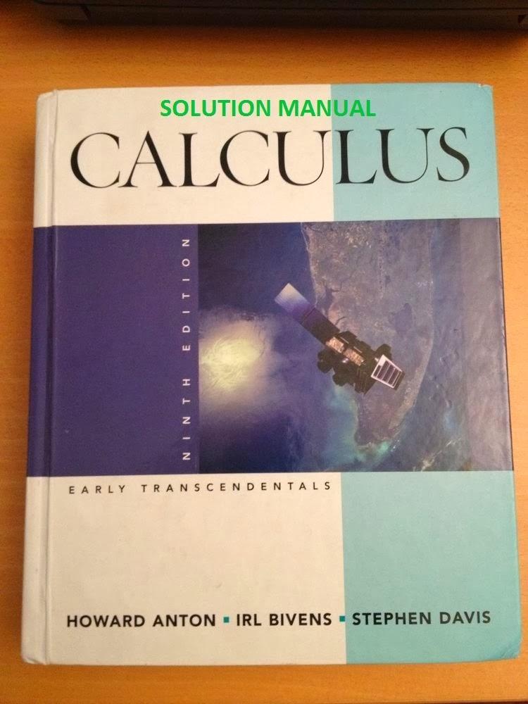 howard anton calculus 5th edition stewart calculus 7th edition solution manual stewart calculus 7th edition solutions manual pdf