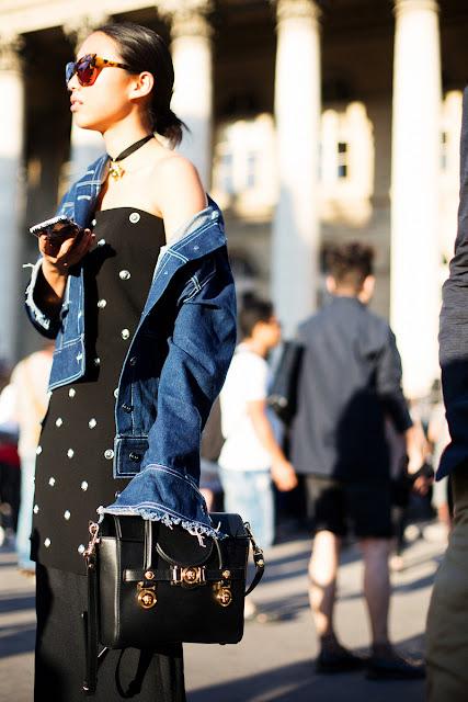 Para ir a lo oficina ¿qué me pongo? vestido negro chaqueta vaquera