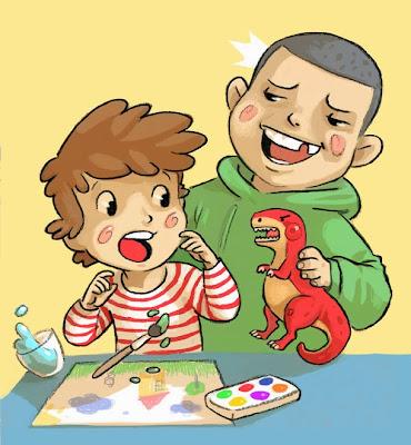 Pereira Samuel, Catherine Kalengula, averbode, dorémi, dessin, illustrations, image; dinosaures