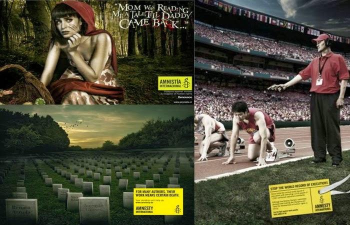 Obraz: Kampanie Amnesty International - Agencja Unitas/RNL Chile 2009: Snow White, Agencja McCann Berlin 2012: Graveyard, Agencja DDB Budapeszt 2008