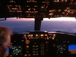 Dawn from the Cockpit