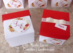 Convite de Casamento Caixa de montar