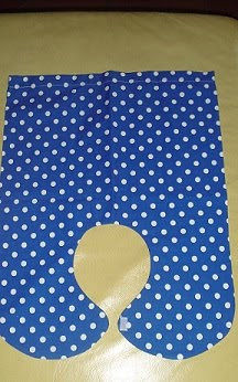 Saco Pescoço e Dorsal - Capa Exterior - Bolinhas em azul