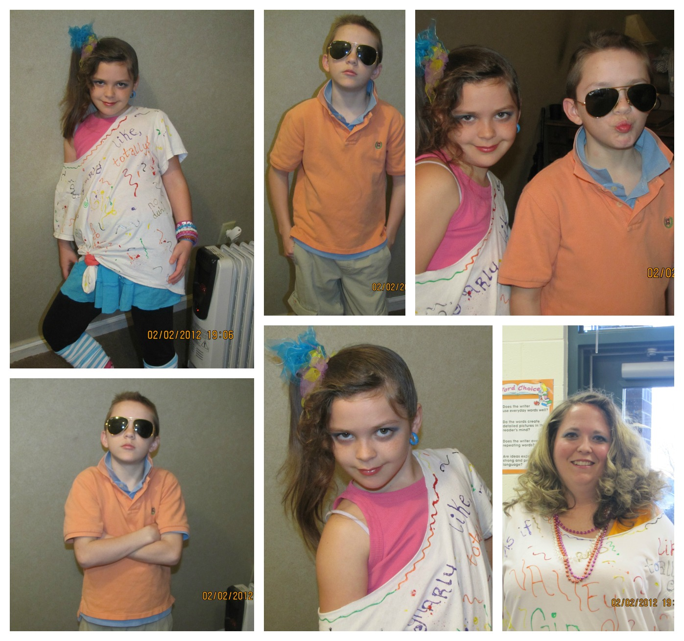 Easy 80s Outfits http://www.wedratherbecamping.com/2013/02/family-fun-friday-blast-from-past.html