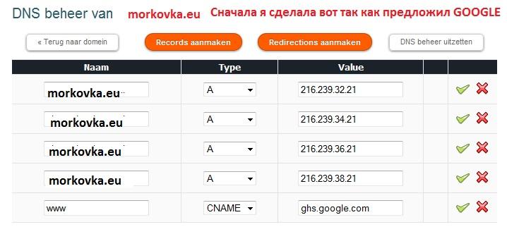 Свой домен и блоггер без FREE DNS