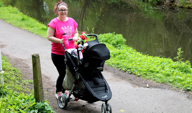 girl exercising with baby jogger city mini