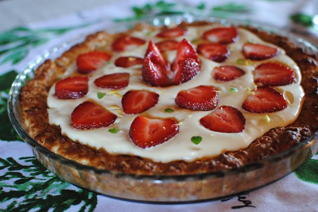 recept, jordgubbspaj