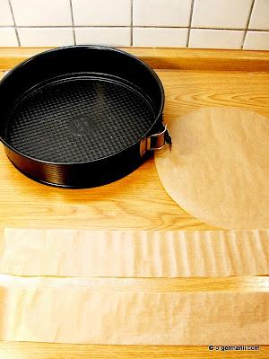 подготовка формы для торта-мороженое Грильяж