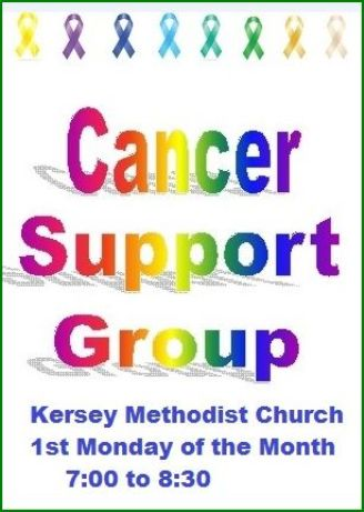 10-6  First Monday--Cancer Support Group