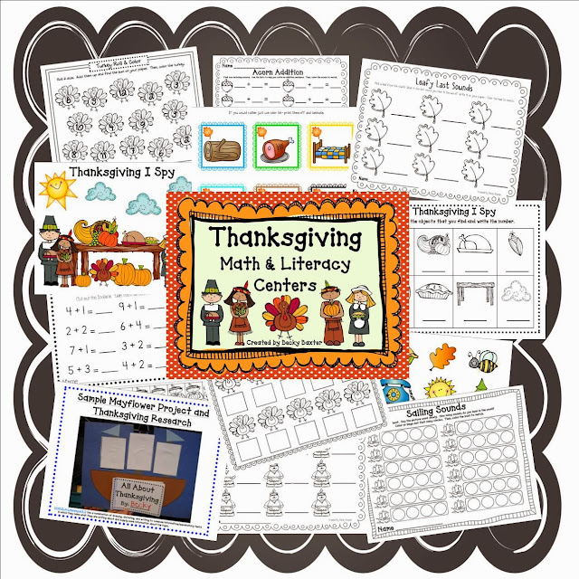 http://www.teacherspayteachers.com/Product/Thanksgiving-Math-and-Literacy-Centers-CC-aligned-961960