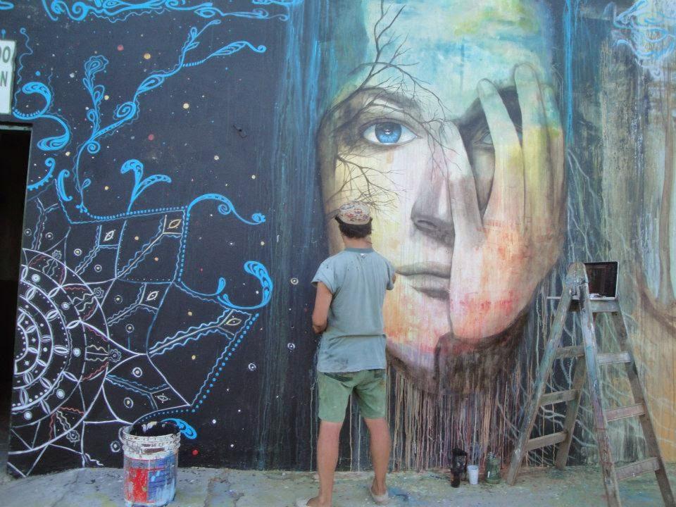 Tigre mural - ( acrilic )
