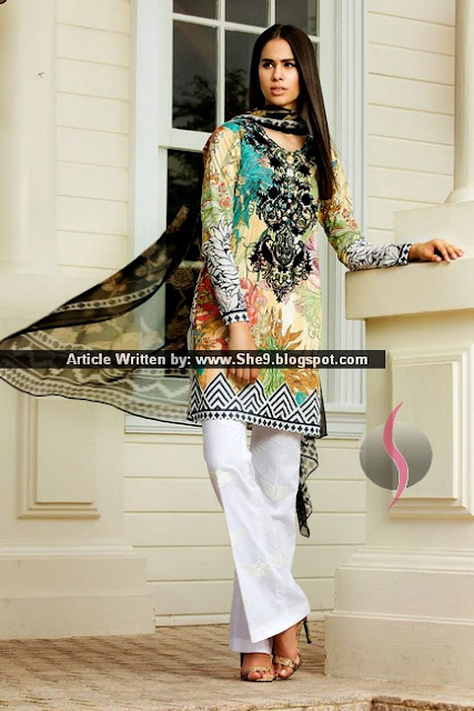Zara Shahjahan Eid Lawn Collection 2015