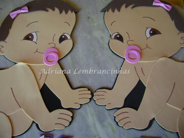 Ateliê Adriana Lembrancinhas: Painel Bebezinhas Gêmeas!