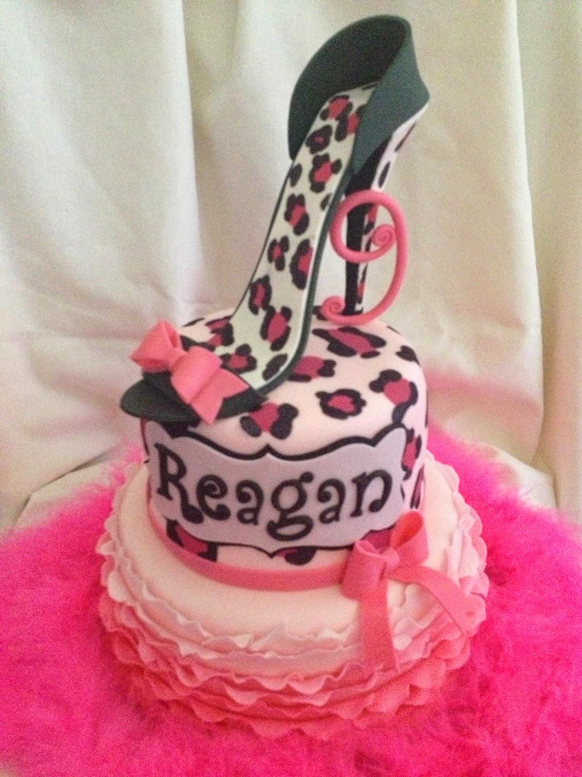Sugar Love Cake Design High Heel Cheetah Print