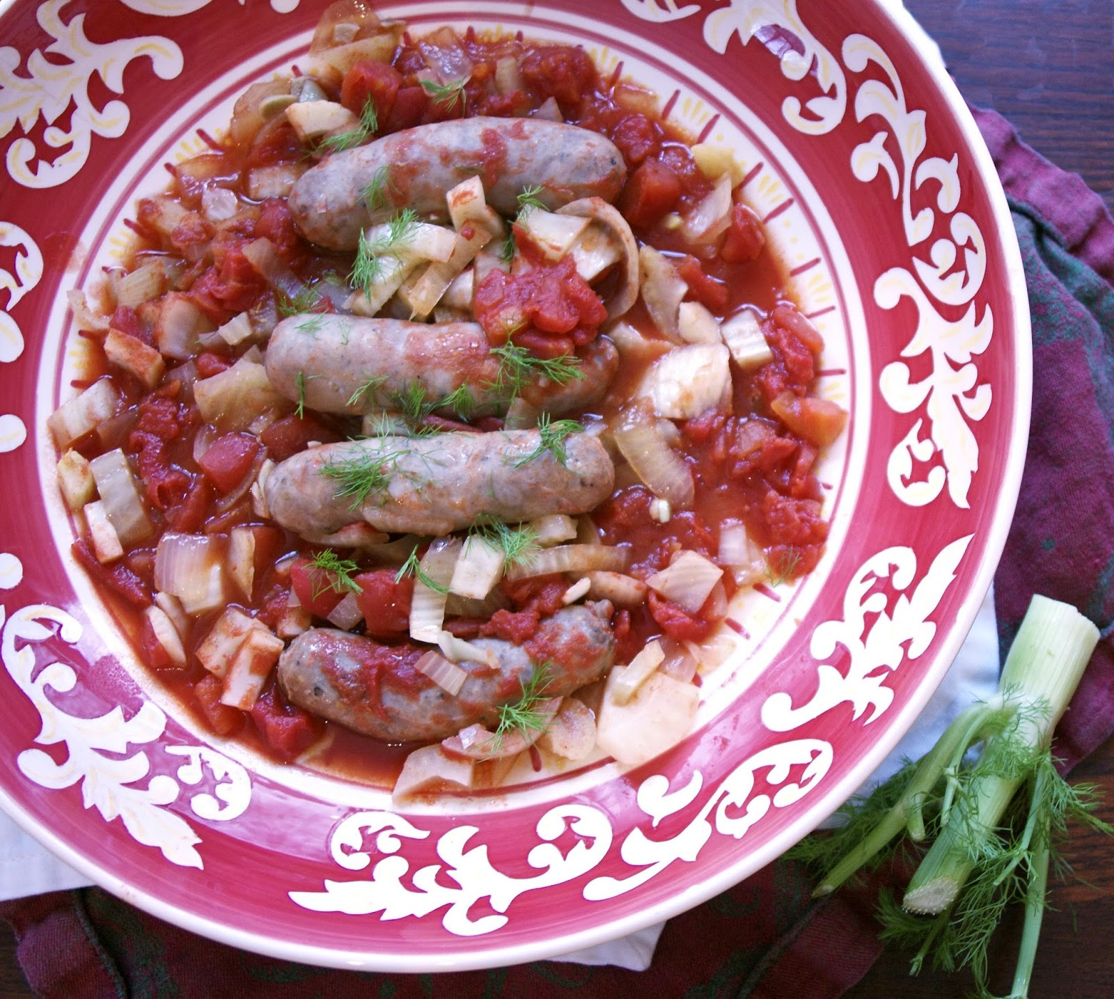 Slow Cooker Sausage Tomato Fennel Stew: simplelivingeating.com