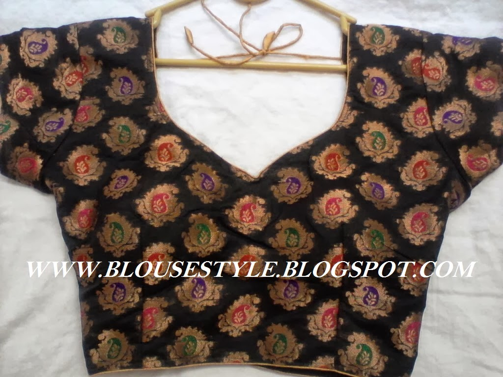 BLACK BANARAS BLOUSE