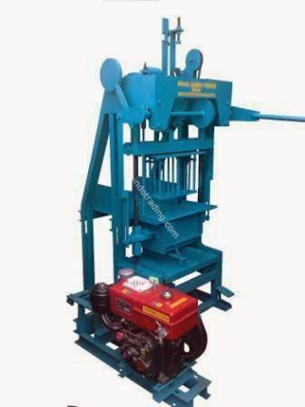 Mesin Press Batako Diesel