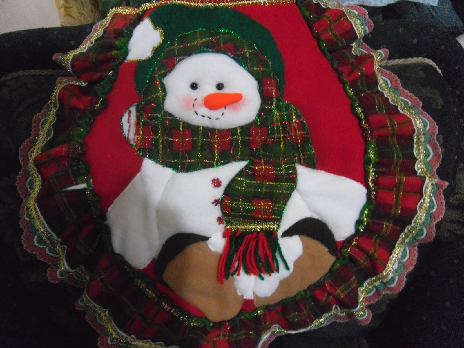 Juegos De Baño Muneco De Nieve:Creaciones Martha Lucia: Juego de baño navideño
