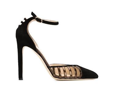 Chloe Gosselin black ankle strap stiletto pumps