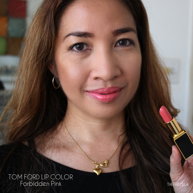 tom ford lip color fall 2015 collection, review, swatch, tom ford lip color forbidden pink