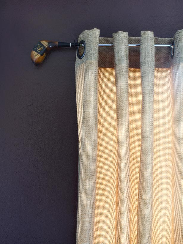 Creative Uses For A Curtain Wall : Creative ways to make a curtain hardware by using