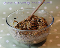 DIY Bird Seed Cookies Mixture