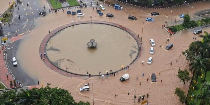 solusi mengurangi resiko banjir jakarta