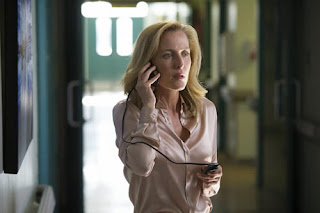 DSI Stella Gibson (Gillian Anderson) talks to killer Paul Spector in The Fall, BBC2