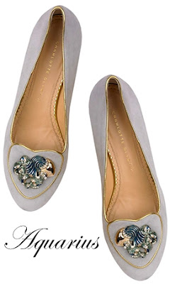 Charlotte Olympia Aquarius Suede Flats Cosmic Collection