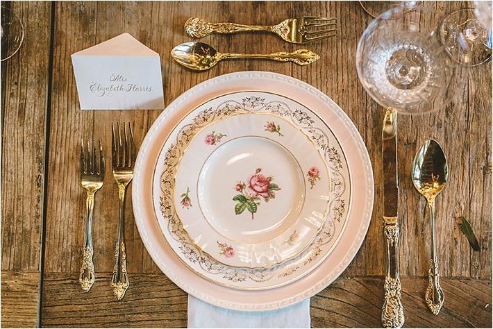Elegant vintage china