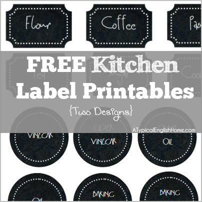 A Typical English Home: Free Printable: Kitchen Labels