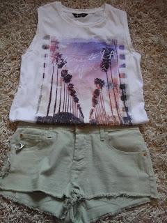 Green Shorts, Festival Shorts, River Island Shorts