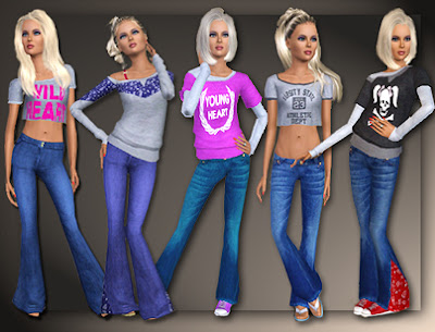 Flare Jeans And Tops Separates by All About Style Family_568