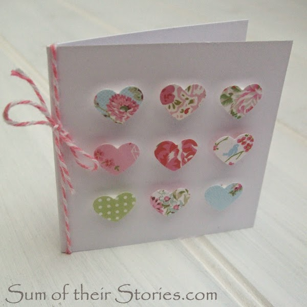 Mini hearts handmade card