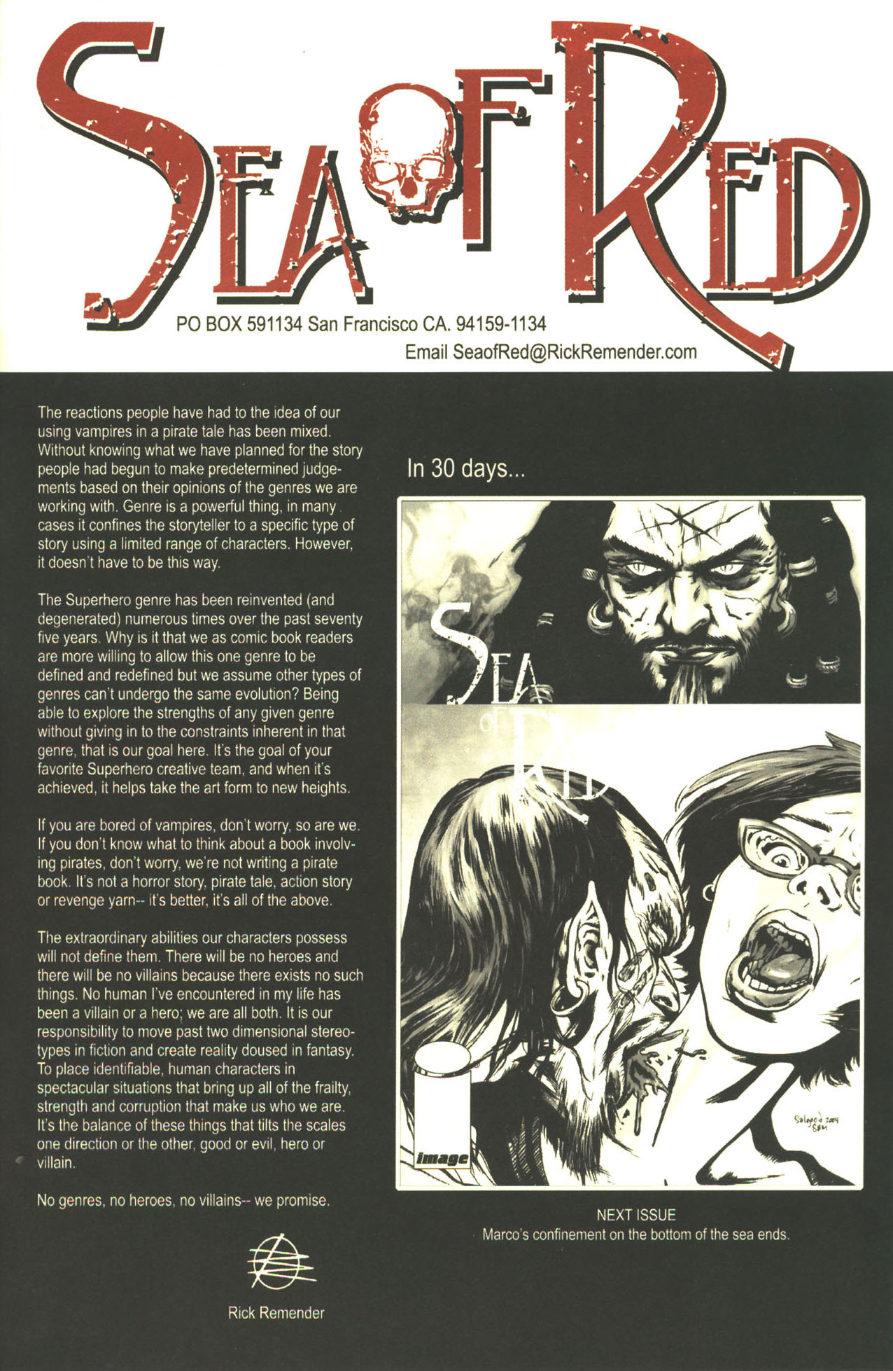 Read online Sea of Red comic -  Issue #1 - 24