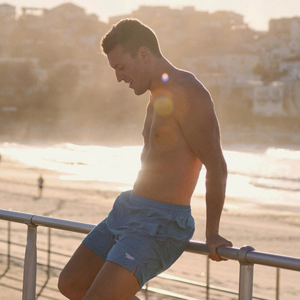 Scott at Bondi beach at sunrise, on Instagram - Modelling portfolio picture by Kent Johnson