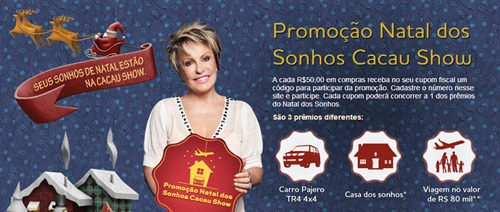Promoção Cacau Show Natal 2013