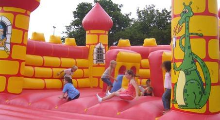 Sex on bouncy castle