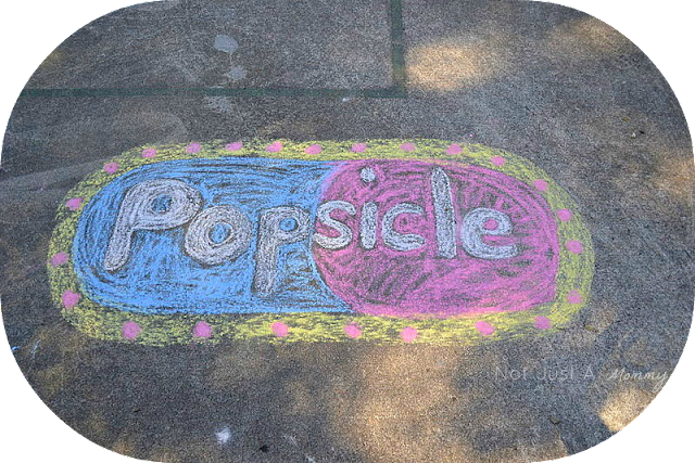 Pop Up Popsicle Party chalk art
