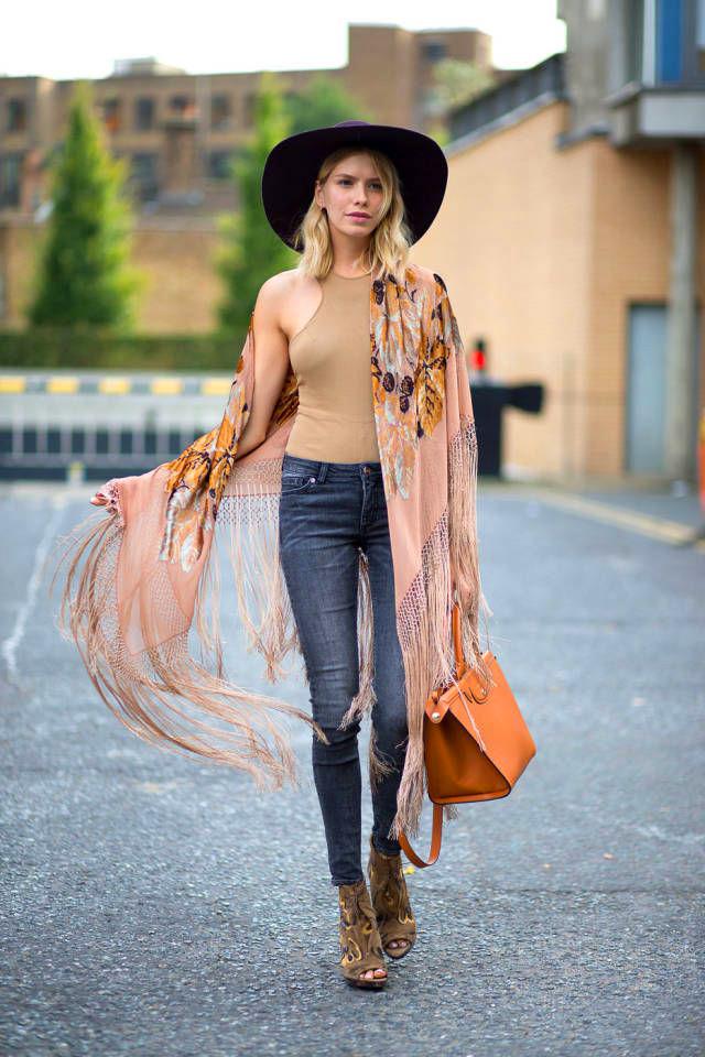 how to wear fringes, spring trend, elena perminova