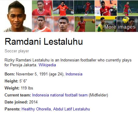 Ramdani Lestaluhu Profil Biografi Pemain Sepak Bola Dunia