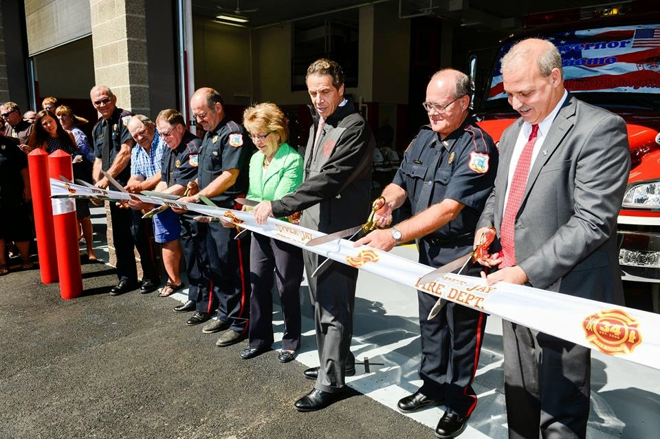 Governor Cuomo Recently in Essex County to Open a Rebuilt Fire Station in Upper Jay