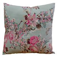 almofada vintage, almofada floral, almofada romântica, almofada turquesa, almofada acqua
