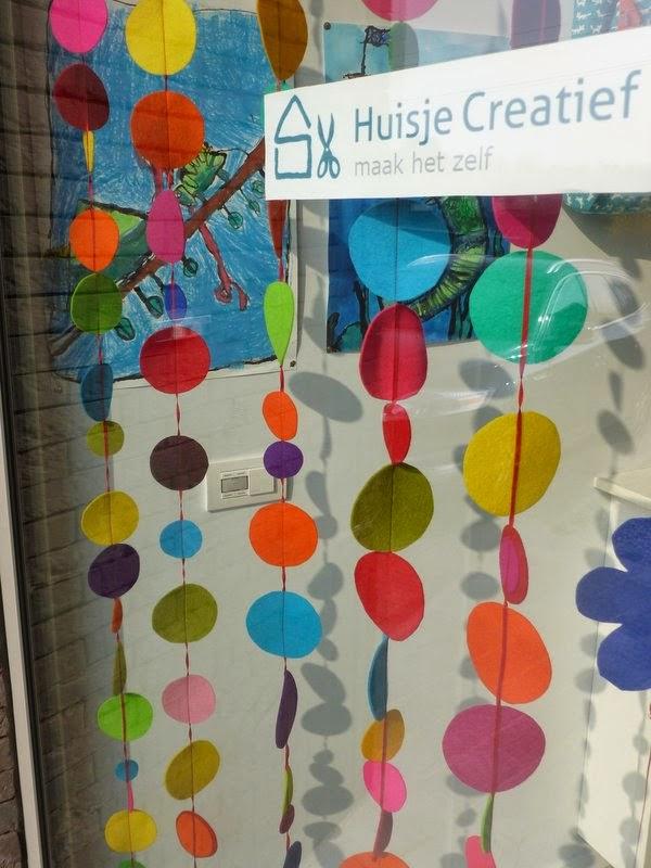 huisje creatief: Vilt gordijn met veel kleur