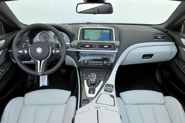 2013 BMW M6 Convertible Front Interior Rear View
