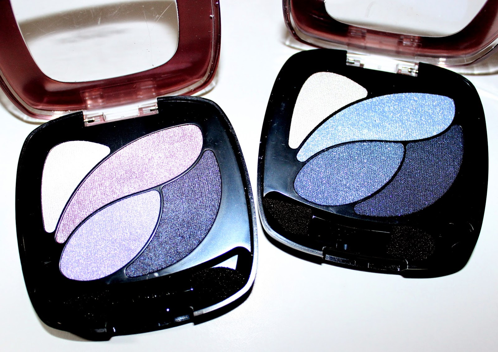 L'Oréal Colour Riche Wet Eyeshadow in Eternal Blue & Unforgettable Lilac