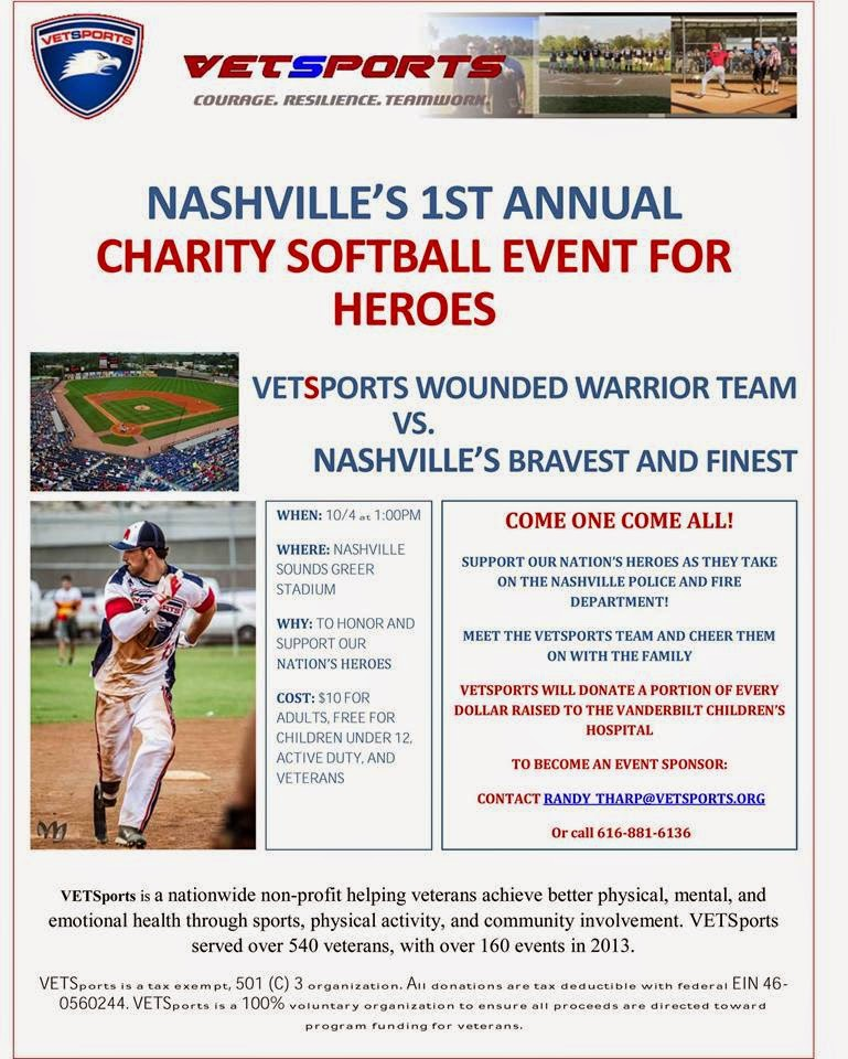1st Annual Charity Softball Event for Heroes
